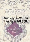 I solemnly swear that i'm up to no good
