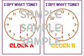 I spy Clocks Half past hunt game