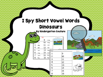 I See Tiny Short Vowel Words -Dinosaur