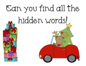 I spy words (Christmas themed)