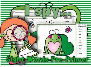 I spy...Love! Pre-Primer List