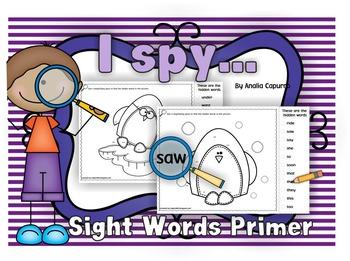 I spy..Sight Words Primer list