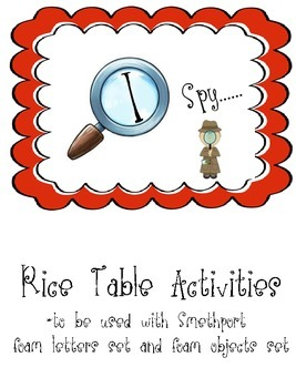 I spy...rice table activities