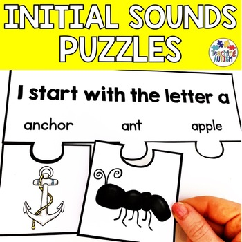 I start with, letter sounds, letter puzzles.