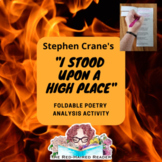 I stood upon a high place by Stephen Crane foldable poetry