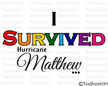 I survived hurricane Matthew Cutting Files SVG PNG EPS jpg dxf ClipArt 712C