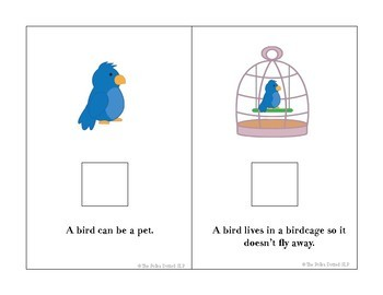 Pets Interactive Book - A speech/language resource
