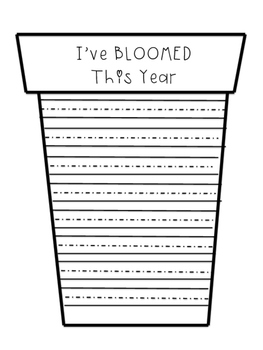 I've BLOOMED This Year { An End of Year Writing and Craft Activity }