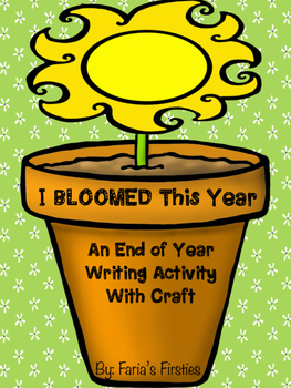 I've BLOOMED This Year { An End of Year Writing and Craft