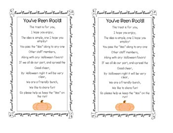 I've Been Boo'd Poem