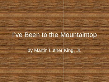 I've Been To The Mountaintop Unit