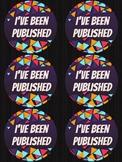 I've been published lanyard/badges - vcop writing success