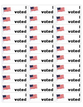 photograph about I Voted Stickers Printable identify I Voted Stickers Worksheets Schooling Products TpT