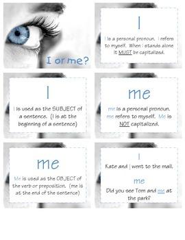 I vs. Me (L 2.1c)