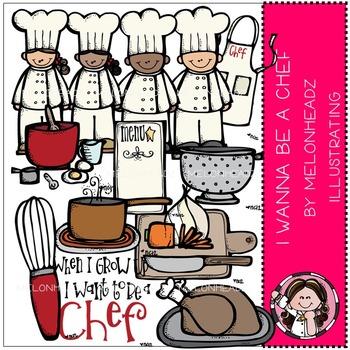 Melonheadz: Chef clip art - COMBO PACK