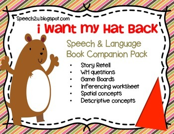 I want my Hat back, Book Companion, speech therapy