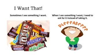 Social Narrative:  I want that!