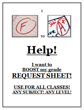 I want to BOOST my grade HELP SHEET! - Any subject
