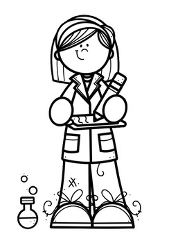 I need coloring pages ~ I want to be a...STEM Coloring Pages by Year Round ...