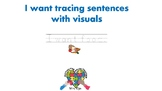 I want tracing sentences with visuals