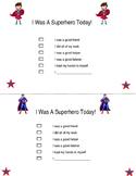 I was a superhero today!