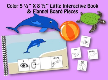 I went to the Beach INTERACTIVE STORY BOOK & LITTLE INTERACTIVE BOOK