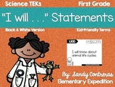 "Science ""I will"" Statements"