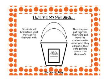 I will fill my Pail with...