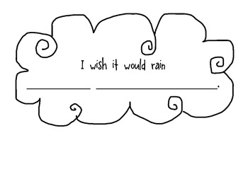 """""""I wish it would rain..."""" cloud and double digit addition"""