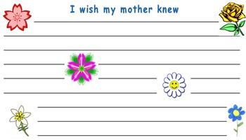 I wish my mother knew