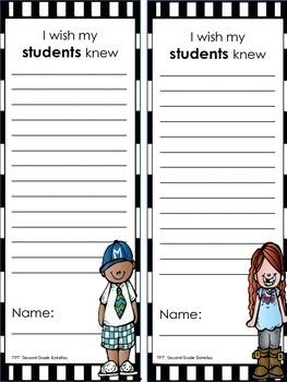 I wish my teacher knew...I wish my students knew
