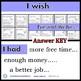 I wish - task cards