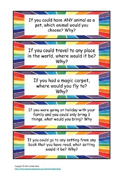 I wonder questions - deluxe with rainbow border