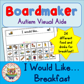 I would like Breakfast with 24 symbols - Boardmaker Visual