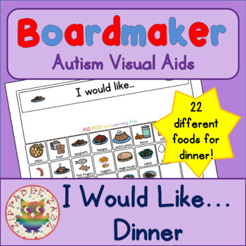 I would like Dinner Tea with 22 symbols - Boardmaker Visual Aids for Autism