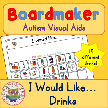 I would like Drinks with 22 symbols - Boardmaker Visual Ai