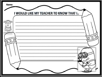 I would like my teacher to know that I....