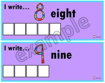 I write...the numbers