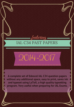 IAL C34 Math Question Papers (2014- June 2017) - without writing space