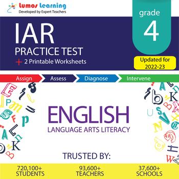 IAR Test Prep Language Arts - IAR Practice Test & Worksheets Grade 4th ELA