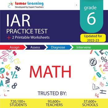 IAR Test Prep Language Arts - IAR Practice Test & Worksheets Grade 6 MATH