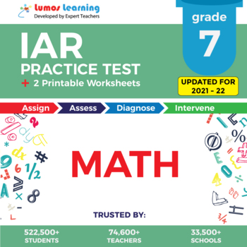 IAR Test Prep Language Arts - IAR Practice Test & Worksheets Grade 7 MATH