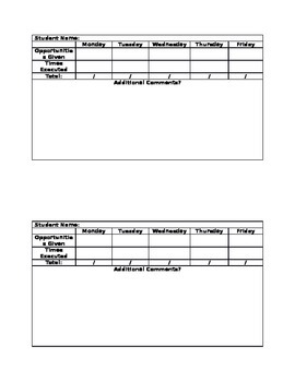 IAT Intervention Assistance Team Tally Tracking Sheet