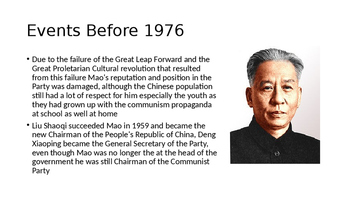 IB A-Level AP Post Mao China - Gang of 4