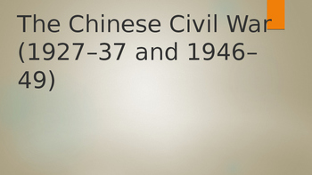IB, A-Level, AP The Chinese Civil War