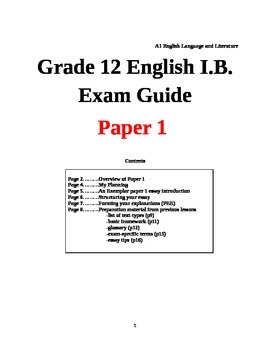 ib english language and literature sl paper 1 past papers