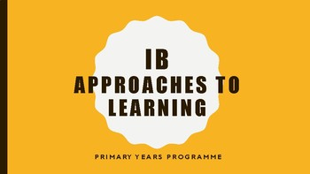 IB Approaches to Learning Posters