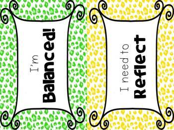 IB Attitudes Behavior Clipchart: Cheetah Edition!
