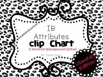 IB Attitudes Behavior Clipchart: Cheetah Edition!