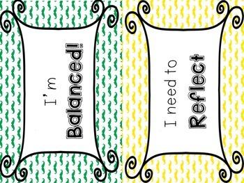 IB Attitudes Behavior Clipchart: Colored Mustache Edition!